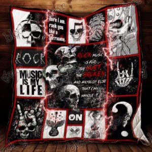 Rock Skull Quilt Blanket