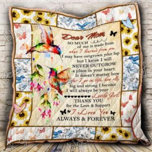 Personalized Hummingbird Dear Mom I May Have Outgrown Your Lap Quilt Blanket Great Customized Gifts For Birthday Christmas Thanksgiving Mother's Day Perfect Gifts For Hummingbird Lover