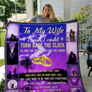 My Wife I Love You Quilt Blanket