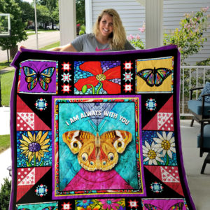 I Am Always With You, Butterfly Quilt Blanket