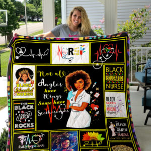 Black Nurse Quilt Blanket
