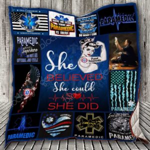 She Believed She Could So She Did, Paramedic Quilt Blanket