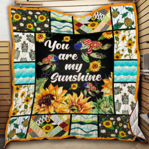 Turtle – You Are My Sunshine Quilt Blanket