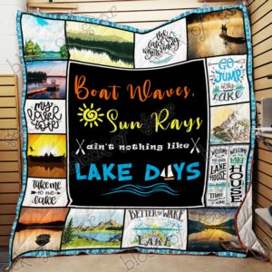 Lake Days Quilt Blanket