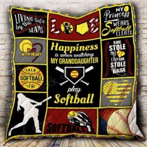 Softball Grandma Quilt Blanket