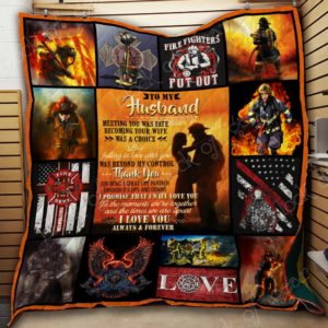 Firefighter – To My Husband Quilt Blanket