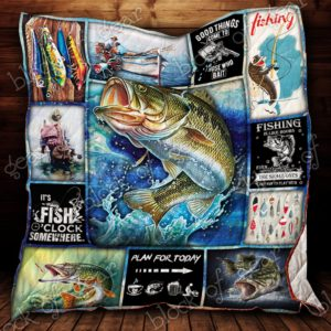 Fishing Time Plan For Today Quilt Blanket Great Customized Gifts For Birthday Christmas Thanksgiving Perfect Gifts For Fishing Lover