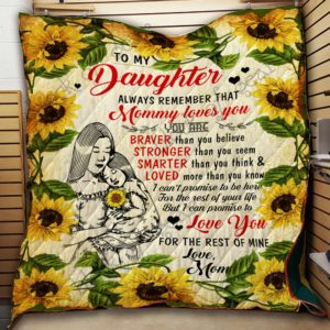 To My Daughter, Sunflower Quilt Blanket