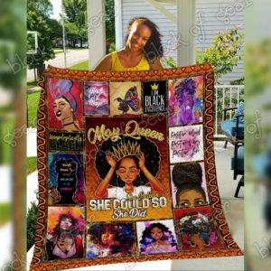 May Black Queen Positive Mind Positive Vibes Positive Life Quilt Blanket Great Customized Gifts For Birthday Christmas Thanksgiving Perfect Gifts For Black Daughter Girlfriend Wife