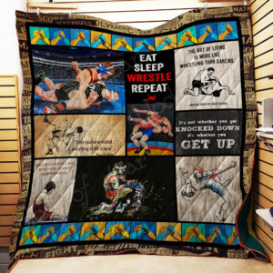 Wrestling The Art Of Living Quilt Blanket Great Customized Gifts For Birthday Christmas Thanksgiving Perfect Gifts For Wrestling Lover