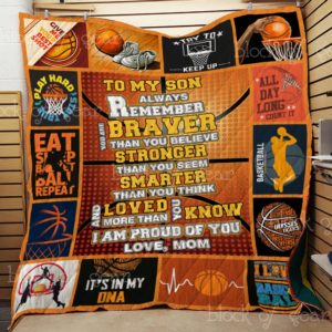 Basketball – To My Son Quilt Blanket
