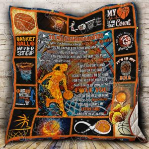 Personalized Basketball To My Granddaughter From Grandparents I Can Promise To Love You Quilt Blanket Great Customized Gifts For Birthday Christmas Thanksgiving Perfect Gifts For Basketball Lover