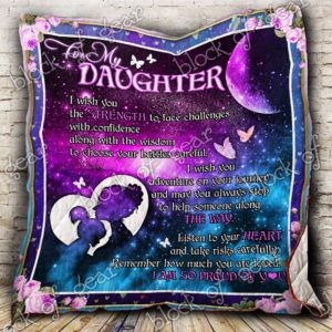 My Daughter I Am So Proud Of You Quilt Blanket
