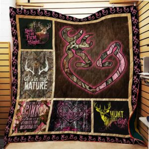 Hunting Deer It's In My Nature Quilt Blanket Great Customized Blanket Gifts For Birthday Christmas Thanksgiving