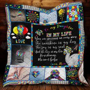 To My Daughter, Autism Awareness Quilt Blanket