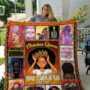 Personalized Black Queen She Belive She Could So She Did Quilt Blanket Great Customized Gifts For Birthday Christmas Thanksgiving Perfect Gifts For Black Daughter Girlfriend Wife