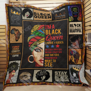 Black Women The Quiet And Sweet Side Quilt Blanket Great Customized Gifts For Birthday Christmas Thanksgiving Perfect Gifts For Black Daughter Girlfriend Wife