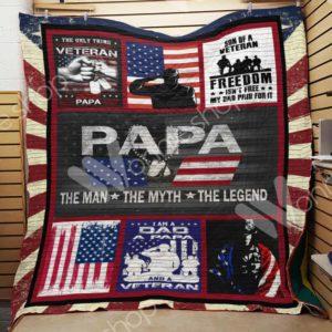 Veteran Papa Quilt Blanket