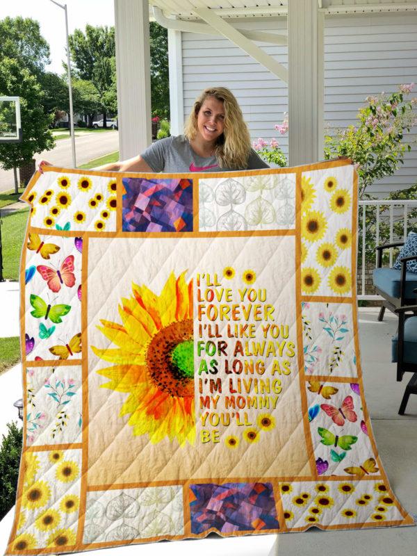 I Love You, Mom Quilt Blanket