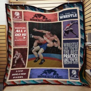 Wrestling Practice Like You're Second Best Quilt Blanket Great Customized Gifts For Birthday Christmas Thanksgiving Perfect Gifts For Wrestling Lover