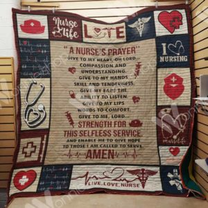 Nurse Give To My Heart Compassion And Understanding Quilt Blanket Great Customized Gifts For Birthday Christmas Thanksgiving Perfect Gifts For Nurse