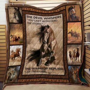 Horse Is The Storm Quilt Blanket Great Customized Blanket Gifts For Birthday Christmas Thanksgiving