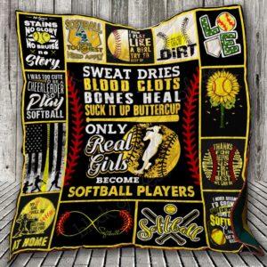 Softball Quilt Blanket