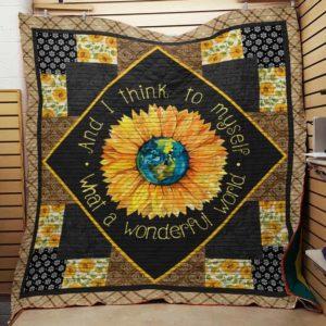 Hippie Sunflower Quilt Blanket