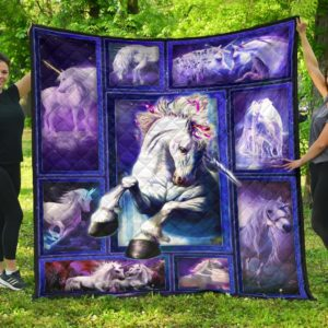 Unicorn Aesthetic Quilt Blanket Great Customized Gifts For Birthday Christmas Thanksgiving Perfect Gifts For Unicorn Lover