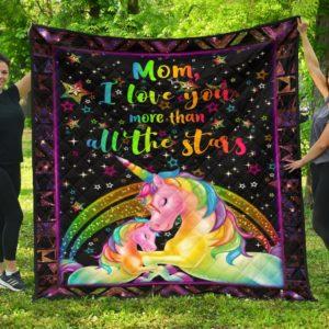 Mom, I Love You Quilt Blanket