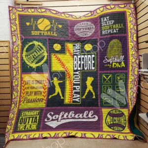 Softball Life Is Short Live Your Dreams Quilt Blanket Great Customized Gifts For Birthday Christmas Thanksgiving Perfect Gifts For Softball Lover