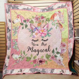 Unicorn Be A Magical Quilt Blanket Great Customized Gifts For Birthday Christmas Thanksgiving Perfect Gifts For Unicorn Lover