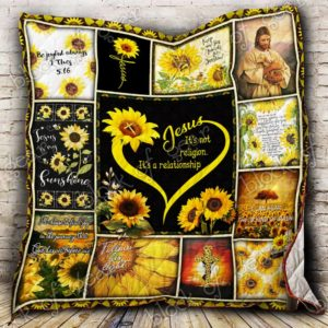 Jesus Sunflower I Can Hear The Sound Of Rain Quilt Blanket Great Customized Gifts For Birthday Christmas Thanksgiving Perfect Gifts For Jesus Christ Lover