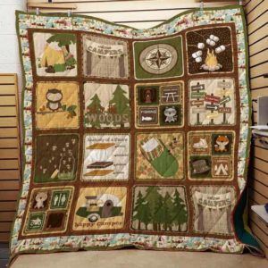 Camping Things Happy Camper Quilt Blanket Great Customized Blanket Gifts For Birthday Christmas Thanksgiving