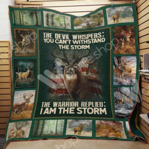 Deer Hunting The Devil Whispers Quilt Blanket Great Customized Gifts For Birthday Christmas Thanksgiving Perfect Gifts For Hunting Lover
