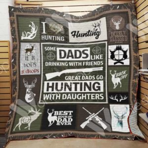 Hunting Dad Quilt Blanket