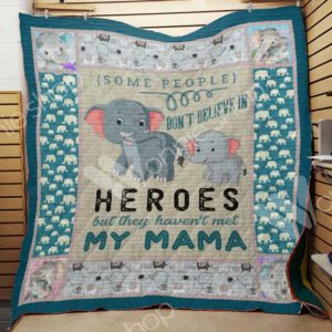 Elephant Family They Haven't Met My Mama Quilt Blanket Great Customized Gifts For Birthday Christmas Thanksgiving Mother's Day Perfect Gifts For Elephant Lover