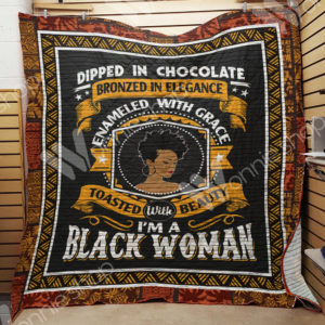 Black Women Dipped In Chocolate Bronzed In Elegant Quilt Blanket Great Customized Gifts For Birthday Christmas Thanksgiving Perfect Gifts For Black Daughter Girlfriend Wife