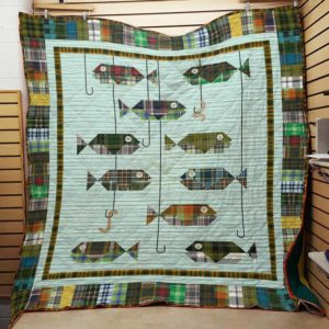 Fishing Camo Quilt Blanket Great Customized Gifts For Birthday Christmas Thanksgiving Perfect Gifts For Fishing Lover