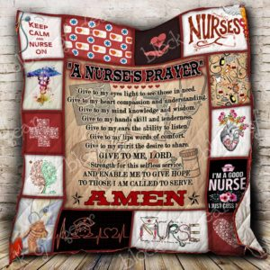A Nurse's Prayer Quilt Blanket