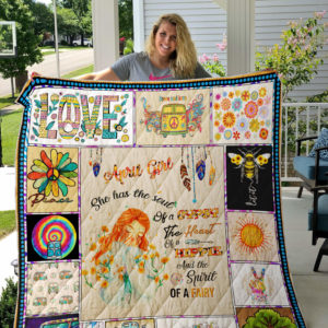 Personalized Hippie Spirit Of A Fairy Quilt Blanket Great Customized Gifts For Birthday Christmas Thanksgiving Perfect Gifts For Hippie