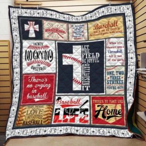 Baseball Let The Field Be Joyful Quilt Blanket Great Customized Gifts For Birthday Christmas Thanksgiving Perfect Gifts For Baseball Lover