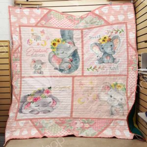 Elephant Babygirl Quilt Blanket