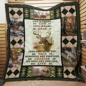 Deer Hunting Life Is Short So Live It Quilt Blanket Great Customized Gifts For Birthday Christmas Thanksgiving Perfect Gifts For Hunting Lover