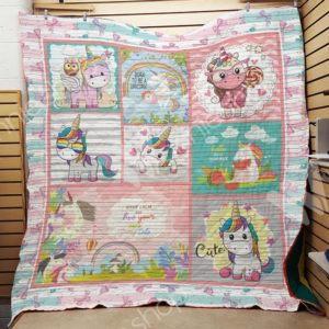 Unicorn Keep Calm And Live Your Own Fairy Tail Quilt Blanket Great Customized Gifts For Birthday Christmas Thanksgiving Perfect Gifts For Unicorn Lover