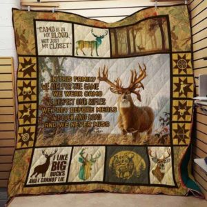 Hunting In This Family We Aim For The Game Quilt Blanket Great Customized Gifts For Birthday Christmas Thanksgiving Perfect Gifts For Hunting Lover