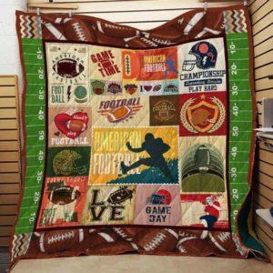 Football Quilt Blanket