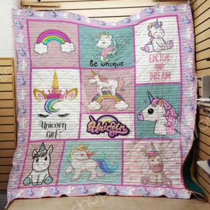 Unicorn Enjoy And Dream Quilt Blanket Great Customized Gifts For Birthday Christmas Thanksgiving Perfect Gifts For Unicorn Lover
