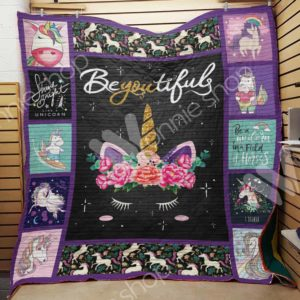 Unicorn Beyoutifuls Quilt Blanket Great Customized Gifts For Birthday Christmas Thanksgiving Perfect Gifts For Unicorn Lover
