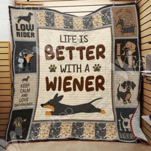 Dachshund Quilt Blanket